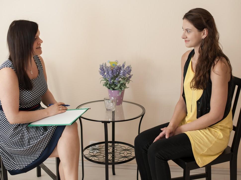 Společný rozhovor s klientkou